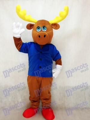 Costume de mascotte brun mignonne avec le costume de mascotte de veste