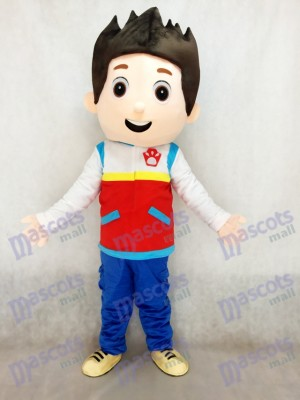 Patte patrouille Paw Patrol Ryder Mascotte Costume Cosplay Carton TYPE A