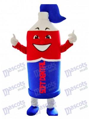 Déguisement de mascotte de dentifrice rouge et bleu