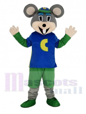 Chuck E. Cheese Mascotte Costume Souris avec vert Chapeau