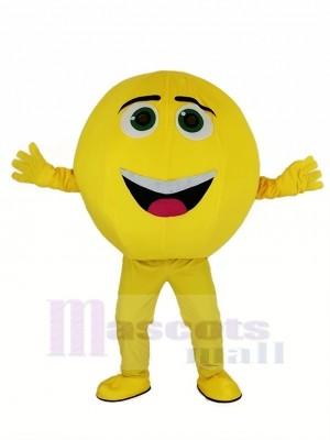 le Jaune Emoji Film Personnages Gene Mascotte Déguisements Dessin animé