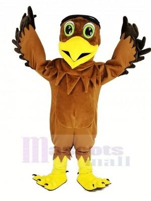 marron Aigle As Pilote Oiseau Mascotte Costume Animal
