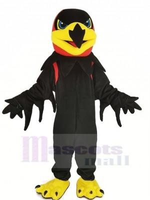 Noir Nuit faucon Mascotte Costume
