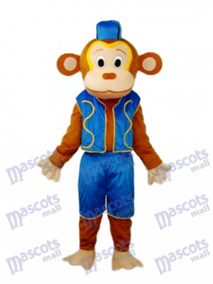 Clown singe en veste bleue Mascotte Costume adulte Animal