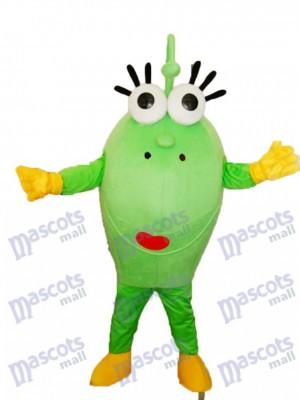 Gros vert Eyed Monstre Mascotte Adulte Costume Dessin animé Anime