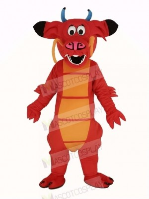 rouge Légendaire Dragon Mascotte Costume Animal