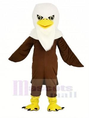 marron Longue La laine Aigle Mascotte Costume Animal