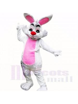 Souriant Des lunettes Pâques lapin Costumes De Mascotte Pas cher