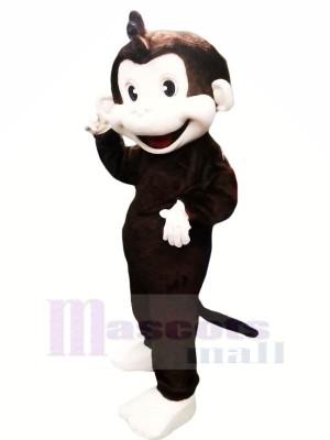 Marrant Noir Singe Mascotte Les costumes Pas cher