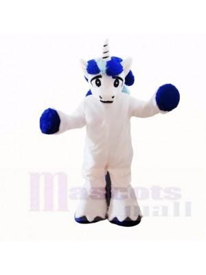 Dessin animé de costumes de mascotte de licorne