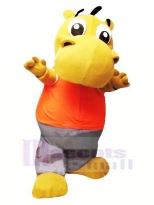 Peu Mignonne Hippopotame Mascotte Costume Dessin animé
