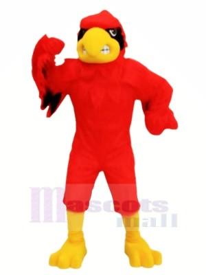 Rouge Féroce Cardinal Mascotte Les costumes Dessin animé