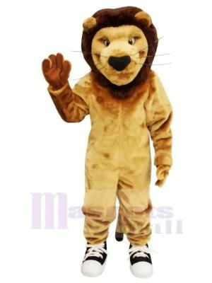 Fort marron Lion Mascotte Les costumes Adulte
