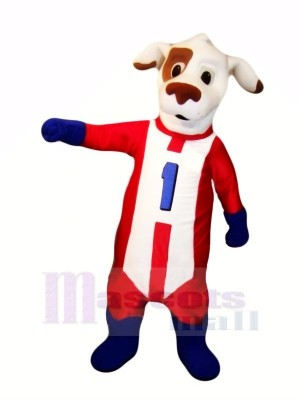 Tiret Chien avec rouge Costume Mascotte Les costumes Animal
