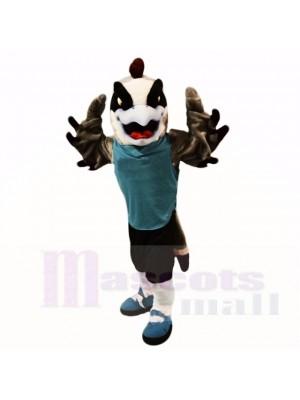 Faucon sport avec une chemise bleue mascotte costumes dessin animé