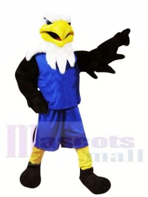 Aigle avec Bleu Costume Mascotte Les costumes Animal