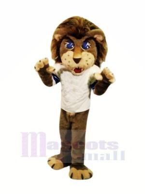 École marron Lion Mascotte Les costumes Dessin animé