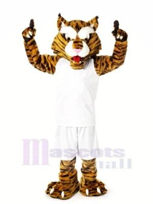 Fort Chats sauvages avec blanc Costume Mascotte Les costumes