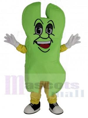 vert Outil Clé Tendeur Mascotte Costume Dessin animé