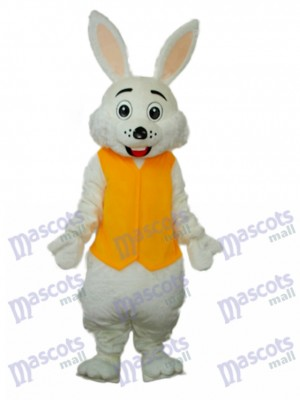 Gilet jaune de Pâques Mascotte de lapin Costume adulte Animal