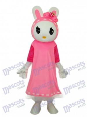 Costume de mascotte de Pâques Miss Rabbit Mascotte Animal