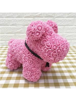 Rose Rose Chiot Chien Fleur Chiot Chien Meilleur cadeau pour la fête des mères, la Saint-Valentin, les anniversaires, les mariages et les anniversaires