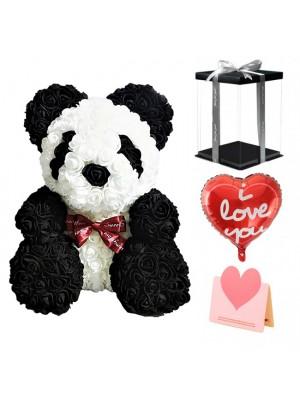 Panda Ours Rose Meilleur cadeau pour la fête des mères, la Saint-Valentin, les anniversaires, les mariages et les anniversaires
