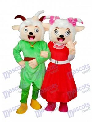 Rire Bouche Chèvre Agréable & Beauté Mascotte de Mouton Adulte Costume Animal