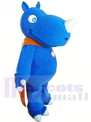 Haute qualité Rhinocéros bleu Costumes De Mascotte