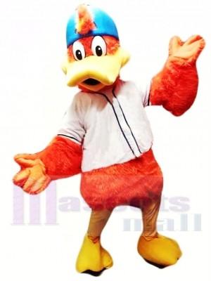 Orange Canard de sport Costume de mascotte