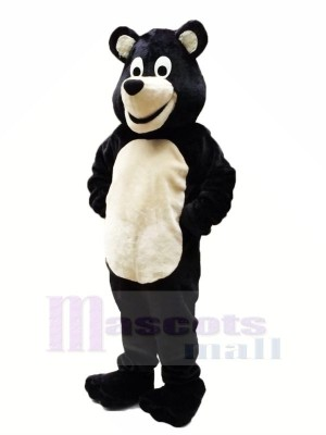 Noir Ours Mascotte Les costumes Pas cher
