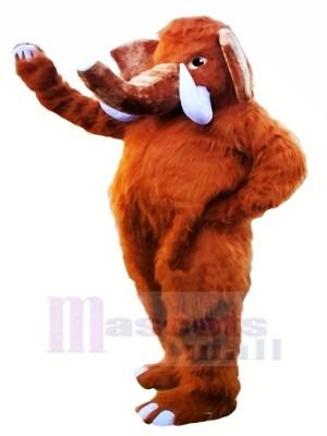 Longue Défenses l'éléphant Mascotte Les costumes Dessin animé