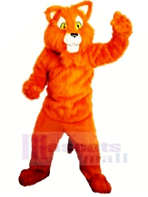 Orange Panthère Mascotte Les costumes Adulte