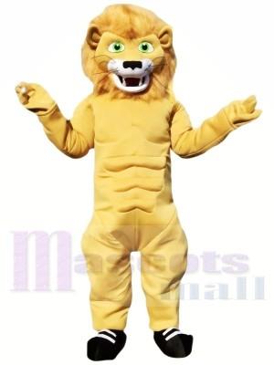Mignonne Puissance Lion Mascotte Les costumes Animal