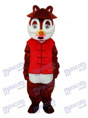 Déguisement de mascotte écureuil chapeau Animal