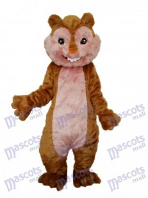 Mascotte écureuil jaune Costume adulte Animal