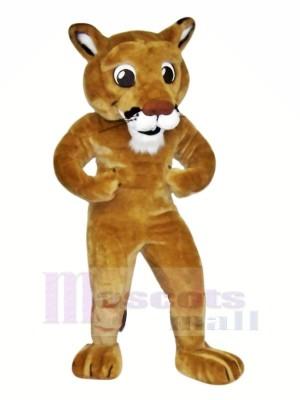 Puissance marron Lion Mascotte Les costumes Dessin animé