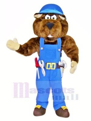 Industriel Gaufre Mascotte Les costumes Dessin animé