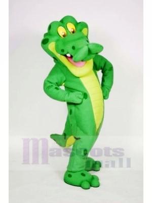Souriant Alligator Mascotte Les costumes Adulte