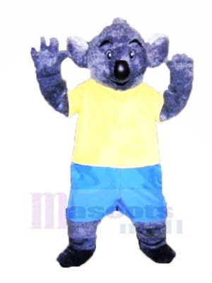 Velu Koala avec Jaune T-shirt Mascotte Les costumes Adulte