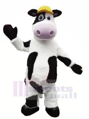 Velu Vache avec Jaune Chapeau Mascotte Les costumes