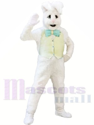 blanc lapin Adulte Mascotte Les costumes Animal