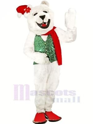 Vacances Polaire Ours Mascotte Les costumes Dessin animé