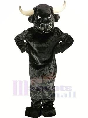 Fort Noir Taureau Adulte Mascotte Les costumes Animal