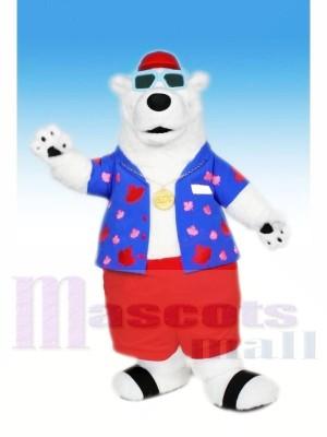 Cool Polaire Ours avec Des lunettes Mascotte Les costumes Animal