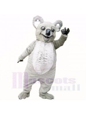 Souriant Gris Poids léger Koala Costumes De Mascotte Dessin animé