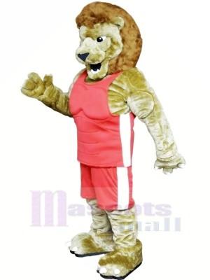 Puissance Lion avec Rose Costume Mascotte Les costumes Dessin animé