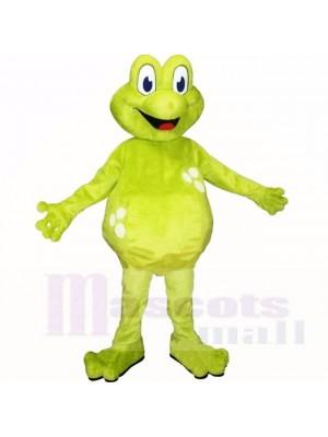 vert Poids léger La grenouille Costumes De Mascotte Dessin animé
