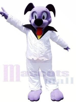 Mignonne Violet Chien Mascotte Les costumes Animal