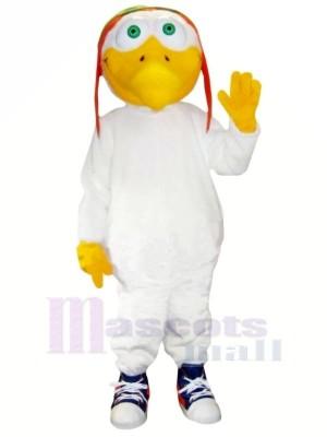 Les pilotes Mouette avec blanc Costume Mascotte Les costumes Dessin animé